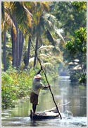 A fisherman in Alappuzha